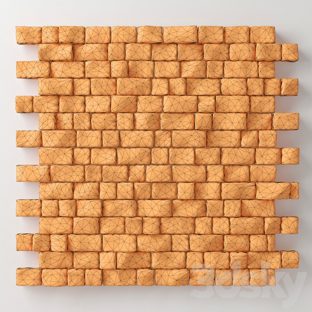 Wall brick rock decoration n2 / Wall of rock brick for decoration