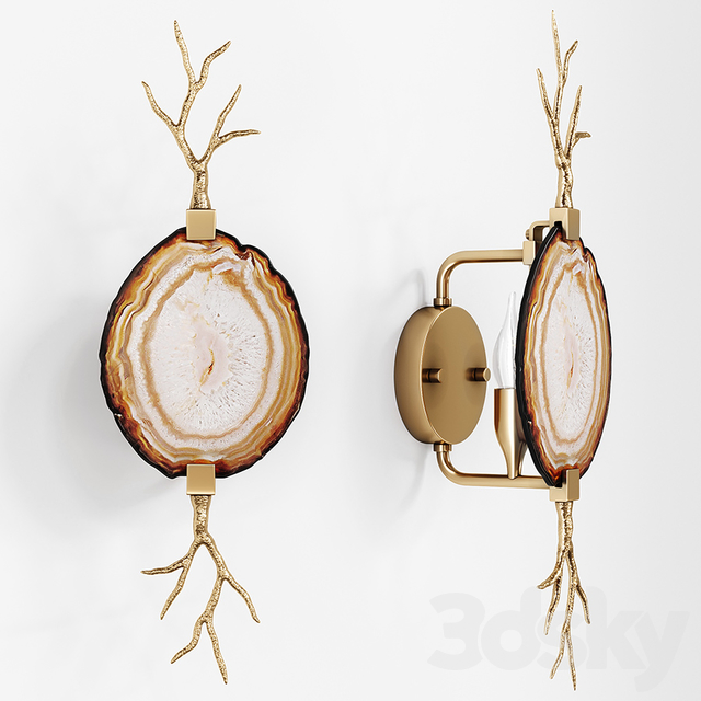 Emporium Home Branch Agate Sconce