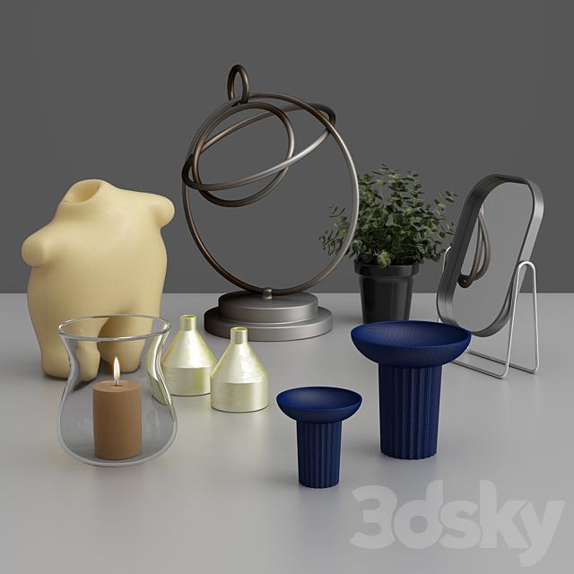Anthropomorphic decorative set