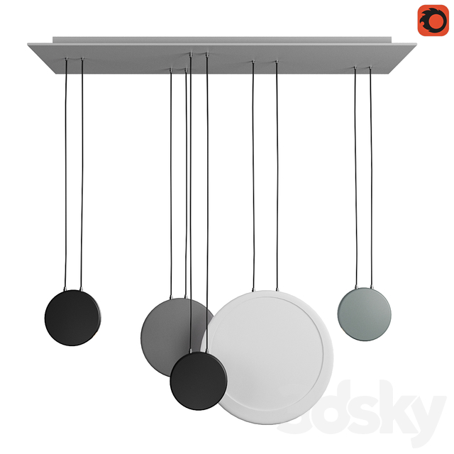 Scandinavian style pendant lamp set