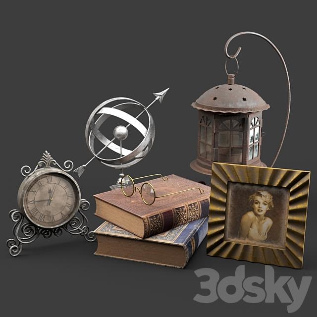Antique decorative set