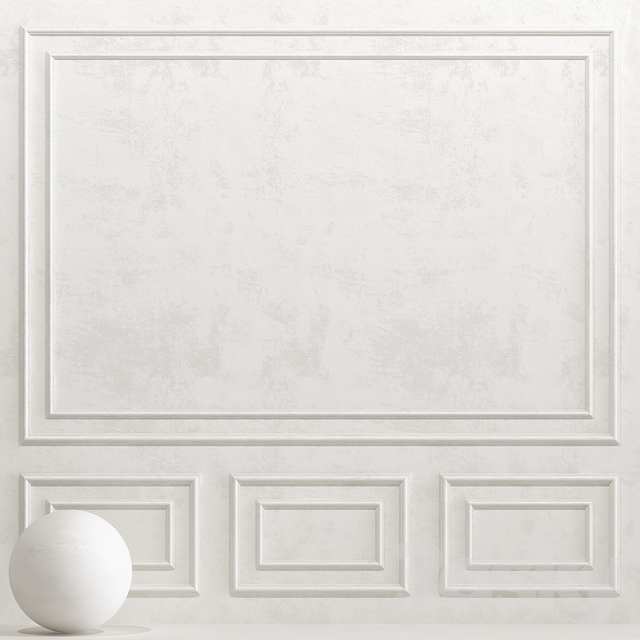 Decorative plaster with molding 4