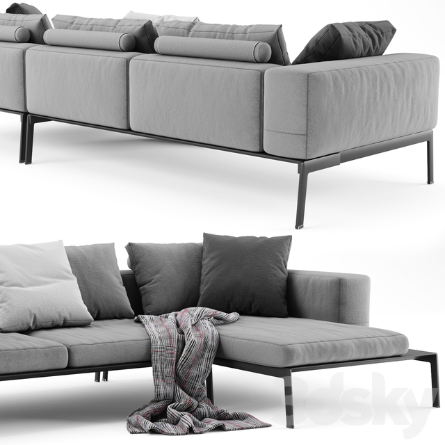 Flexform Lifesteel Sectional Sofa