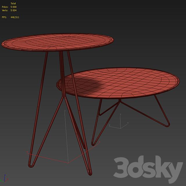 Set of coffee tables. Miniforms LINK. IKEA RIAN