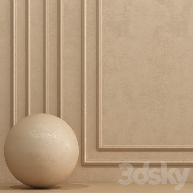 Decorative plaster with molding 5