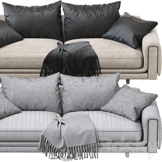 Underline 4-Seat Sofa from Roche Bobois