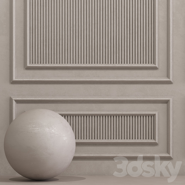Decorative plaster with molding 10