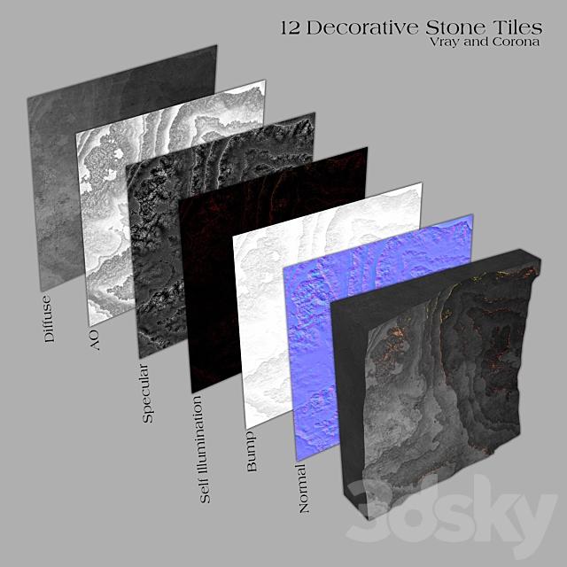 6 Decorative Stone Tiles _ Part B