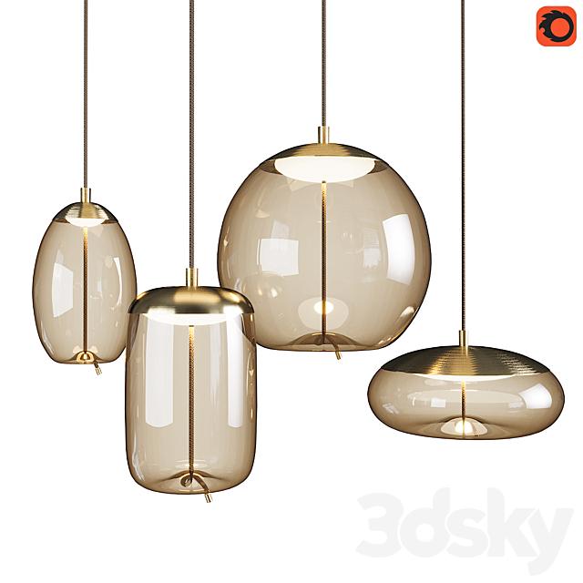 Set of pendant lights Knot Brokis_2