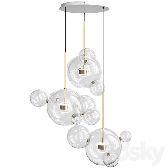 Bolle Circular Chandelier 14 Bubble