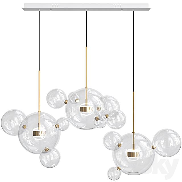 Bolle Linear Chandelier 14 Bubble