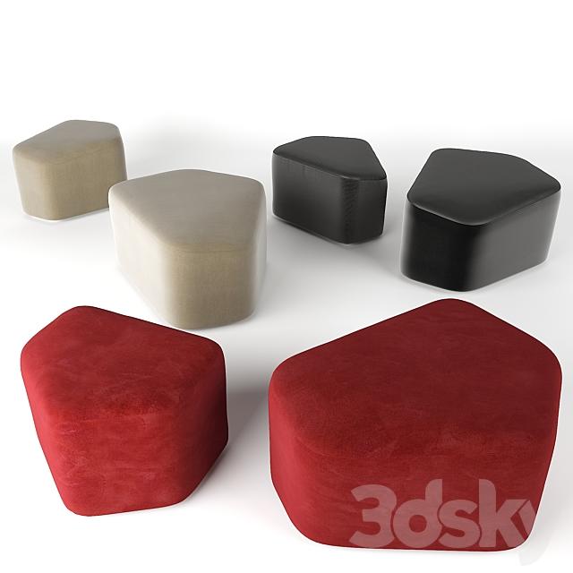 3d models: Other soft seating - La Cividina. Modo. Ottoman.