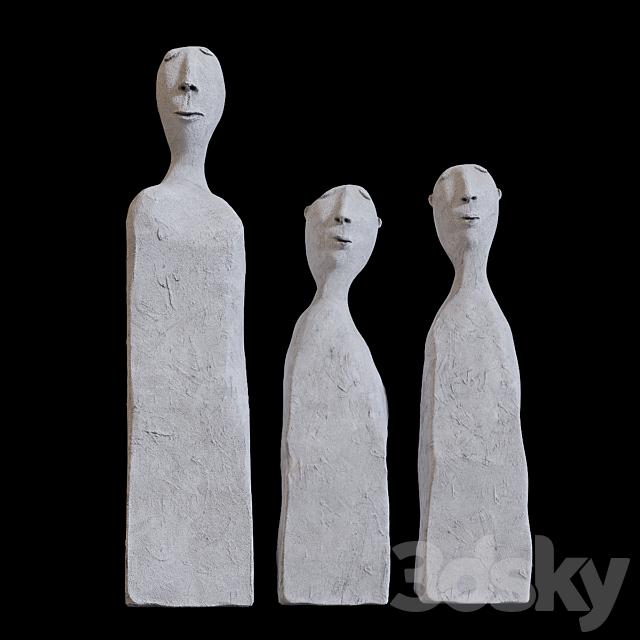 Man - a sculpture of cement