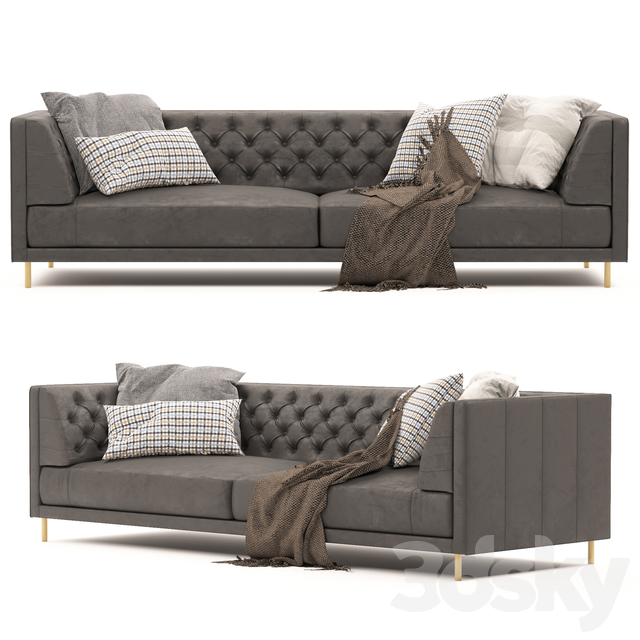 Savile Saddle Leather Tufted Sectional Sofa