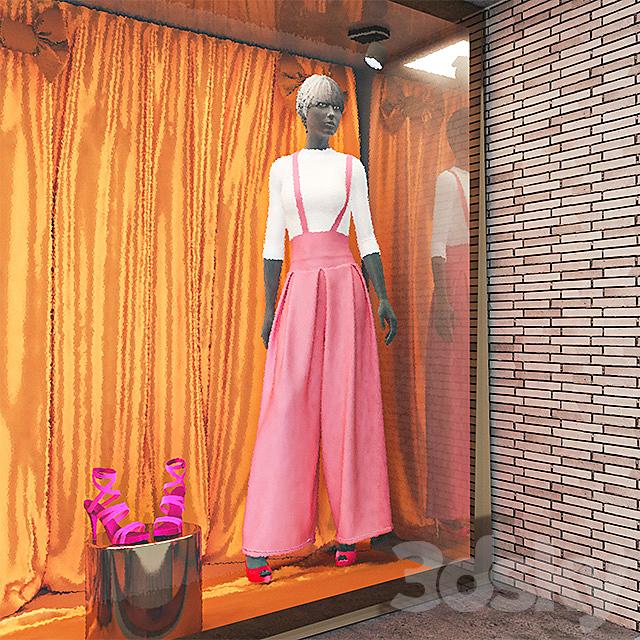 Mannequin dress store