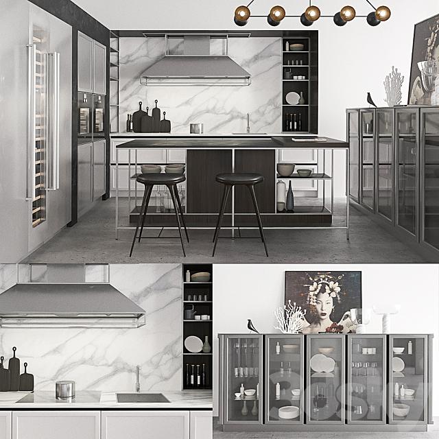 3d Models Kitchen Snaidero Frame Kitchen Composition 3