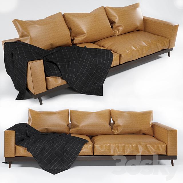 3d models: Sofa - sofa gold