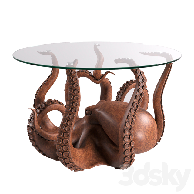 3d Models Table Octopus Coffee Table