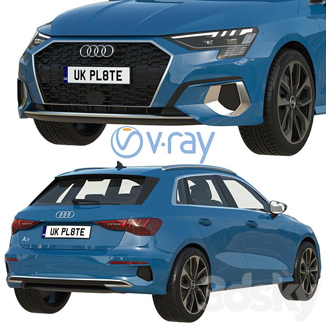 3d models: Transport - Audi A3 Sportback 2021