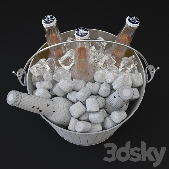 Beer bucket, Corona Extra beer