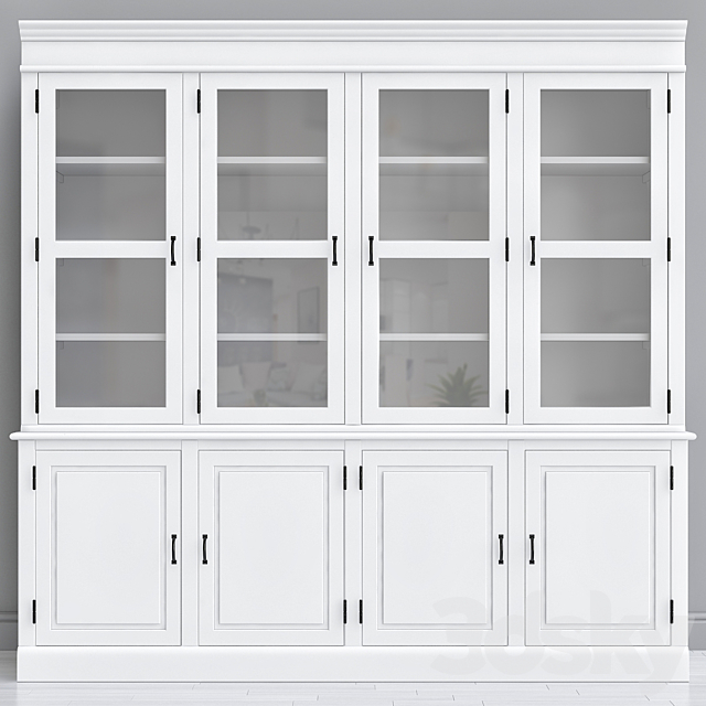 Antique French Style Kitchen Cabinet, French White Kitchen Cabinets
