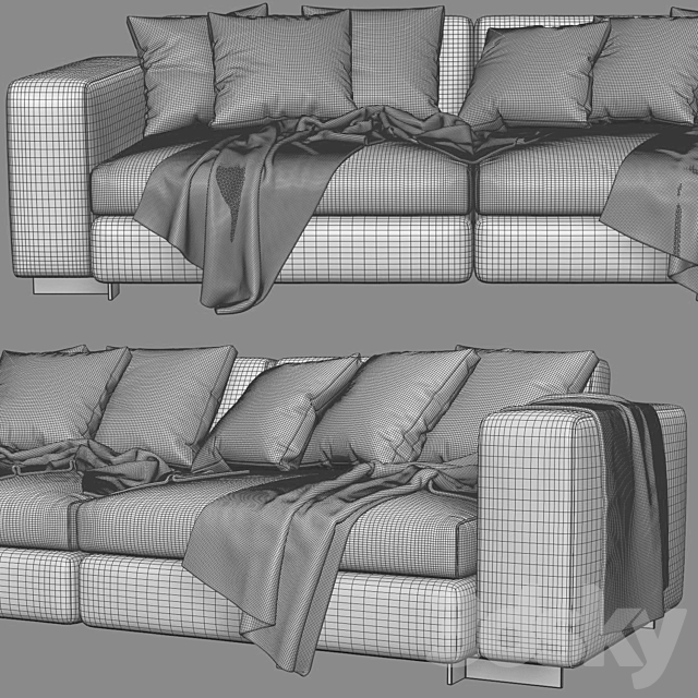 Molteni & C Turner 2 Seats Sofa