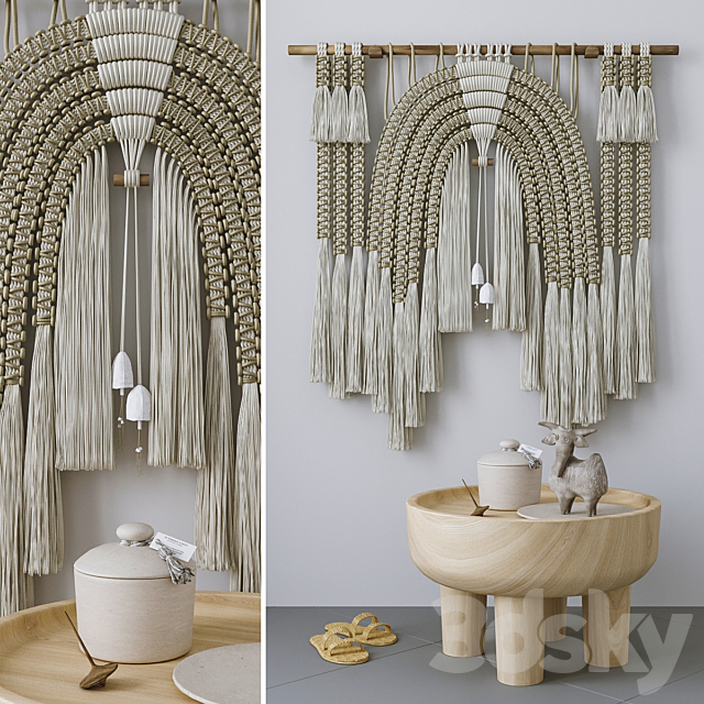 Decorative set with Wall Hanging Macrame # 5