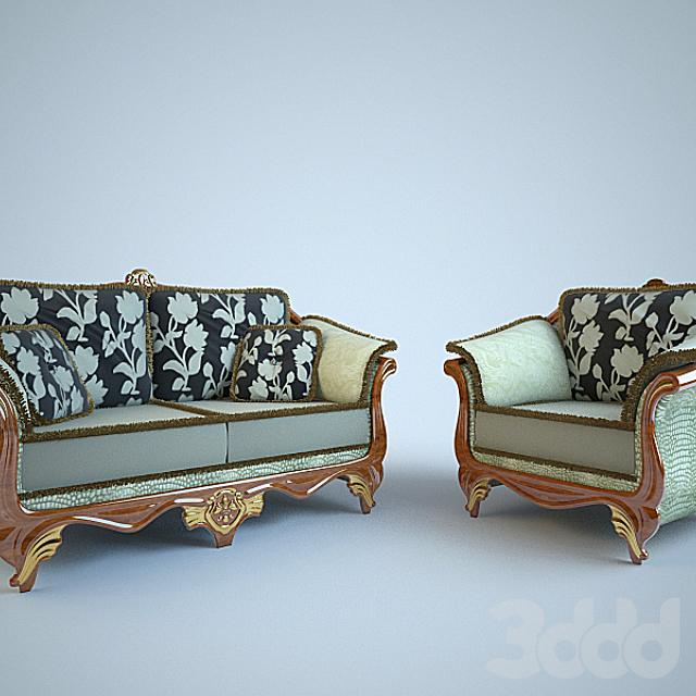 Диван и кресло фабрики Salotti