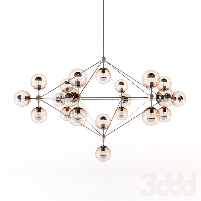 Roll and hill - Modo chandelier