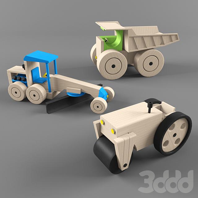 wooden toys - road builder