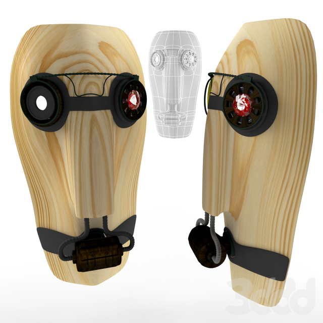 steampunk wooden mask