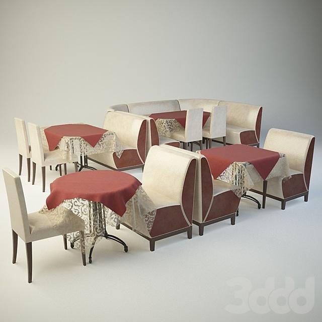 набор мебели для кафе