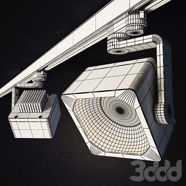 SLV Euro Cube DLMI Spot -white/silvergrey/black-