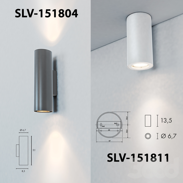 Светильник настенный и потолочный SLV-151801