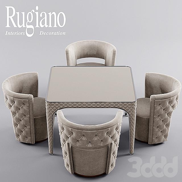 кресло и стол rugiano Giotto