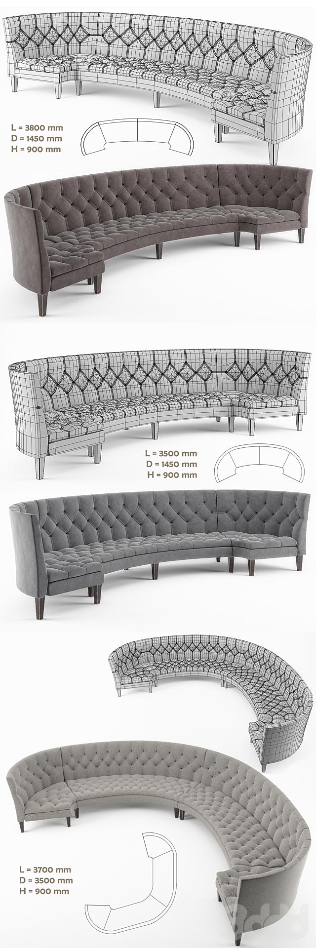 Restaurant Sofas Capito Set / Набор диванов в ресторан