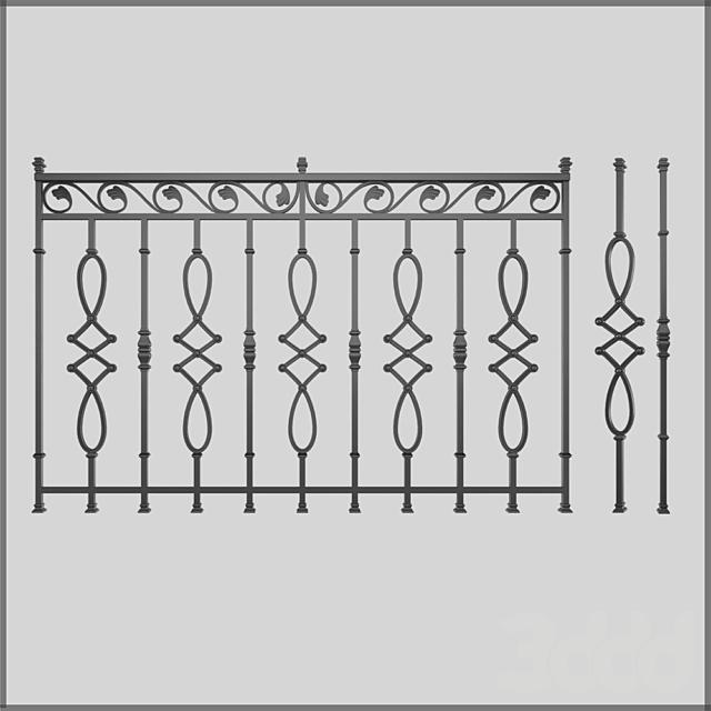 Кованный забор 4