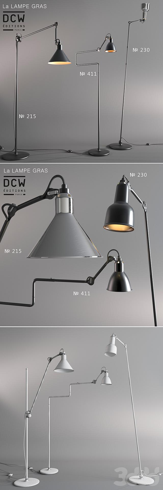 Серия торшеров La Lampe Gras (France)
