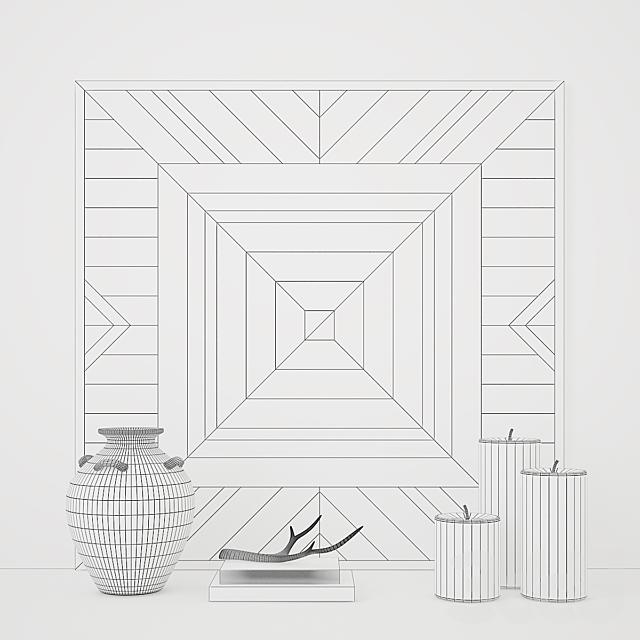 Декор Planked Chalet Motif