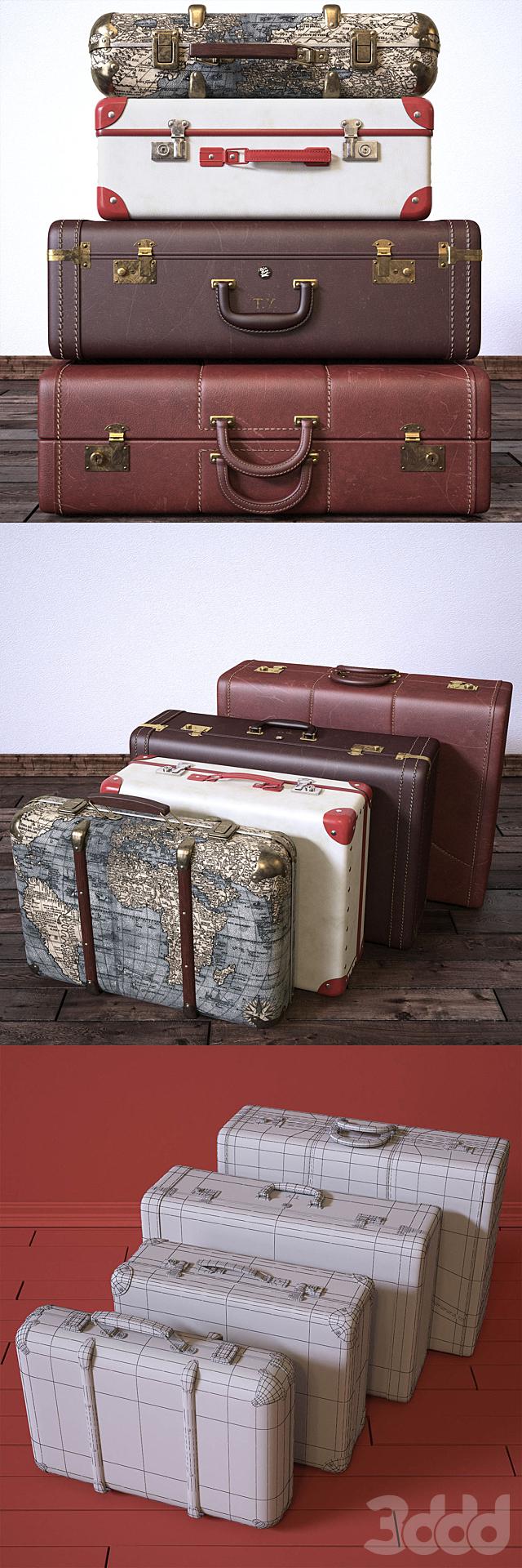 Vintage Fan & Suitcases
