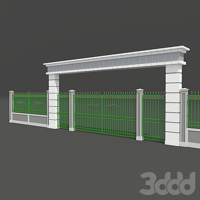 Забор арка