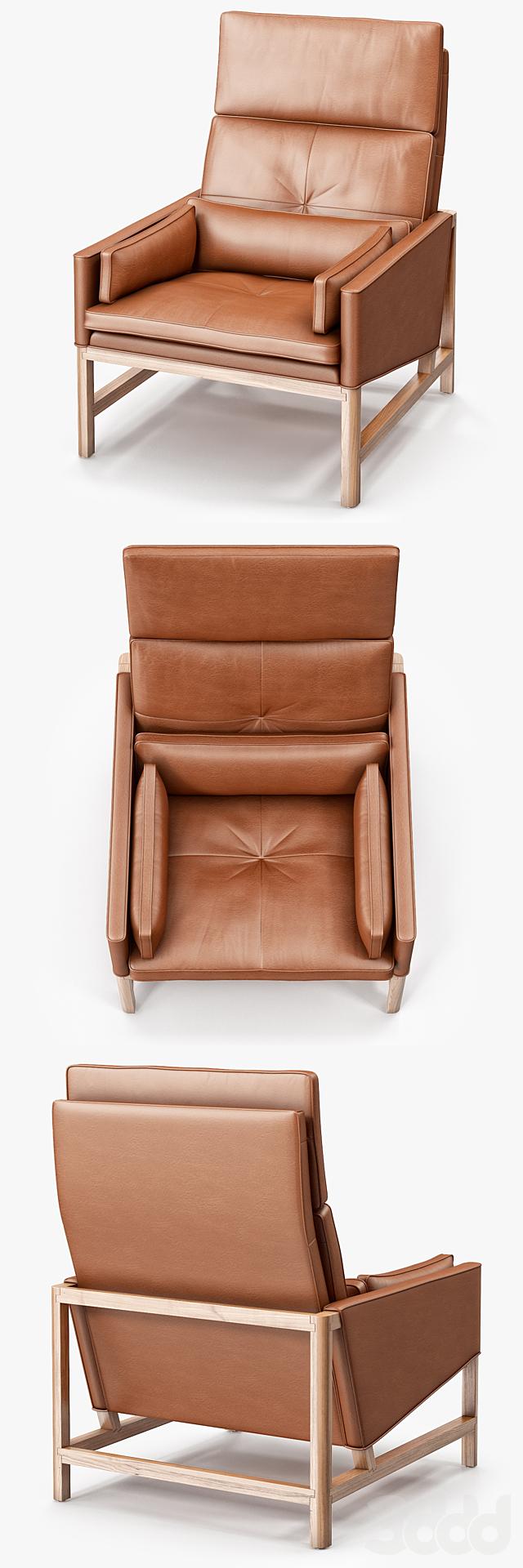 BassamFellows High Back Lounge Chair