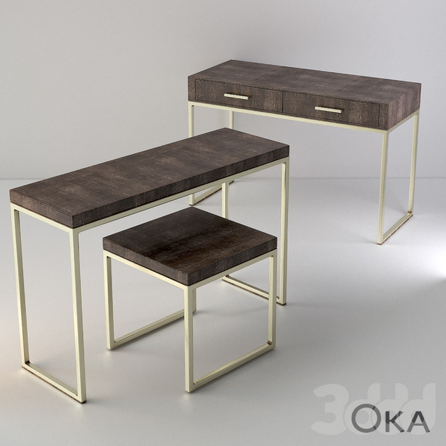лофтовая Мебель Oka серии FAUX SHAGREEN и RIVULET