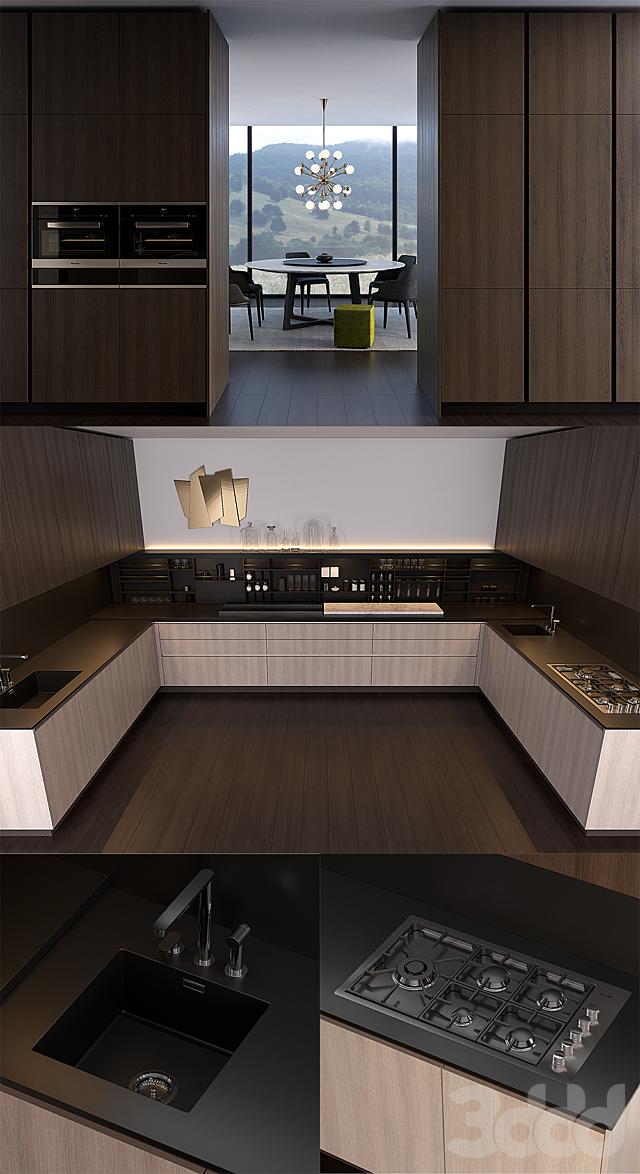 Кухня Poliform Varenna Alea 2 (vray GGX, corona PBR)