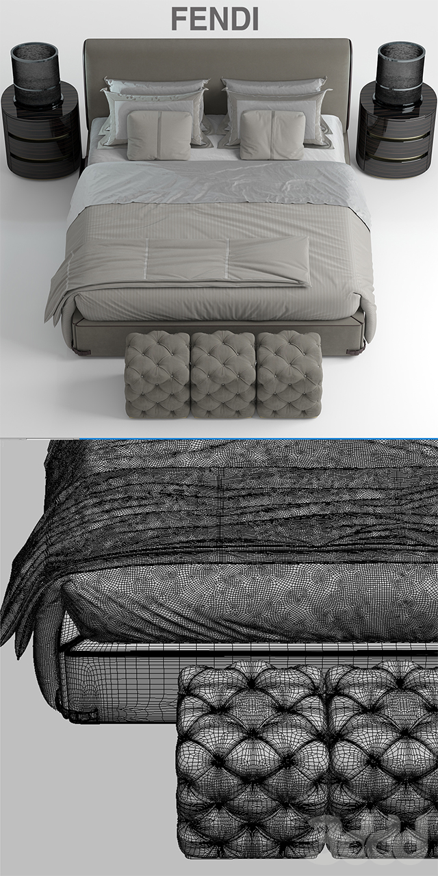 Кровать fendi Soho Bed
