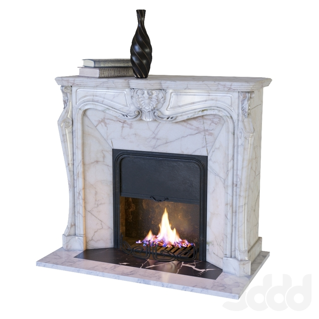 Classic fireplace with decor