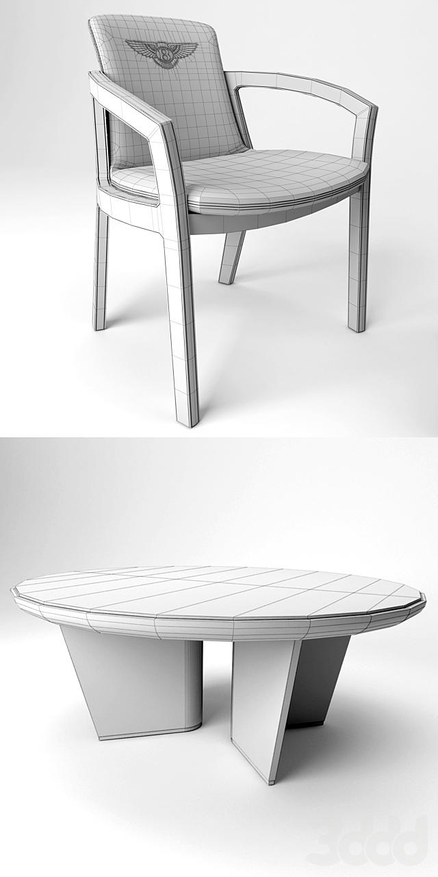 Стол и стулья Bentley Home, Belgravia Chair, Madeley Table