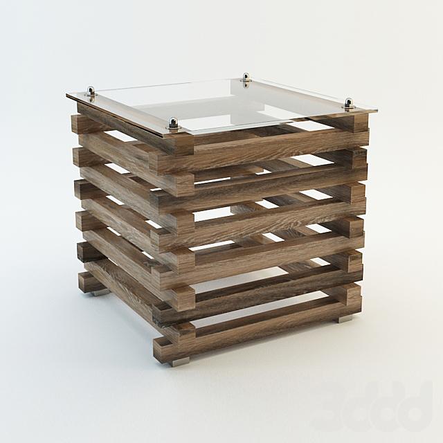 Andrew Martin Bertrand Log Side Table