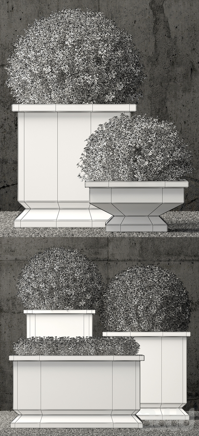 estate zinc footed planters