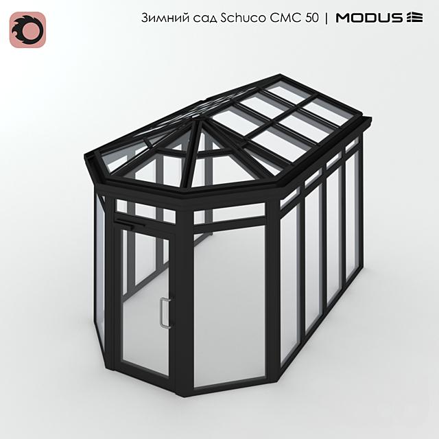 Зимний сад (№ 14) CMC 50 MODUS. Примыкающий к фасаду, пятискатный
